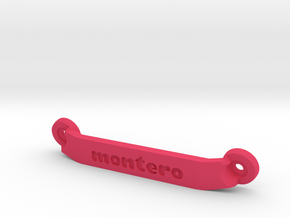 CW01 Chassis Brace - Rear - Montero in Pink Strong & Flexible Polished