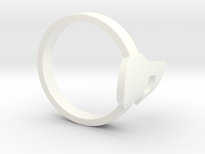 Tagpro Ring in White Strong & Flexible Polished