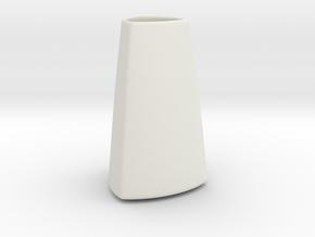 DRAW vase - A ceramic in White Natural Versatile Plastic