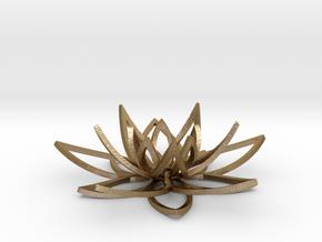 Lotus flower in Polished Gold Steel