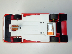 Slot car chassis for GT1 1/28 in White Natural Versatile Plastic