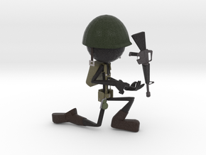 Stickman Soldier in Full Color Sandstone