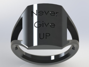 personalized moto ring size 11 in Black Acrylic