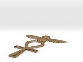 Crest Of Ankh-Morpork in Polished Gold Steel