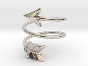 Spiral Arrow Ring - 17.35mm - US Size 7 in Platinum