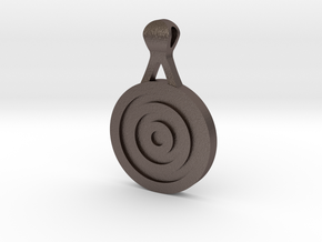 Target Pendant in Polished Bronzed Silver Steel