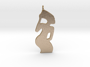 Usha Mama Pendant in Polished Gold Steel