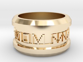 A Gift Most Personal for Mom in 14k Gold Plated Brass