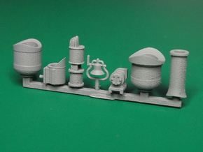 Detail parts for 2-8-0 loco conversion [set A] in Smooth Fine Detail Plastic