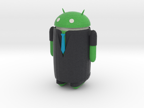 Android businessman in Full Color Sandstone