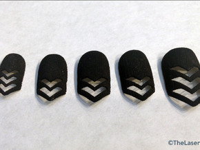 Chevron Nails (Size 0) in Black Natural Versatile Plastic