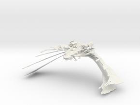 Aehallh Class  NightmareScimitar  BIG  Wings Open  in White Natural Versatile Plastic