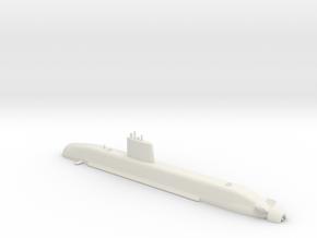 1/700 Barracuda Class Submarine (Waterline) in White Natural Versatile Plastic