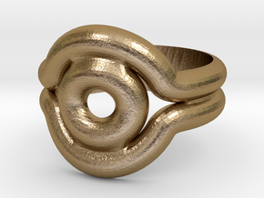 Shadow Ring - Style 2 in Polished Gold Steel