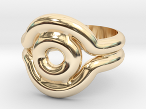 Shadow Ring - Style 2 in 14k Gold Plated Brass