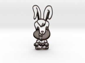 Yum bunny 2 in Polished Bronzed Silver Steel