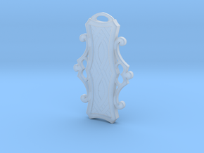 Pendant 01- 60mm in Smooth Fine Detail Plastic