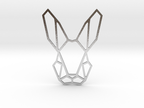 Mr. Rabbit Pendant in Natural Silver