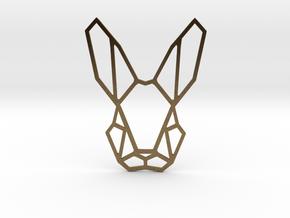Mr. Rabbit Pendant in Natural Bronze