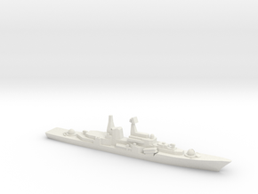 Sovremenny-Class destroyer ,1/2400 in White Natural Versatile Plastic