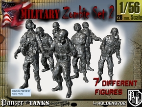 1-56 Seven Military Zombies Set2 in Frosted Ultra Detail