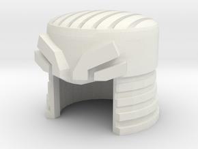 Robohelmet: Wrecked Topper in White Natural Versatile Plastic