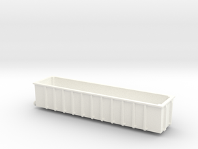 N Gauge JUA 100 Tonne Bogey Tippler Wagon (OUTER) in White Processed Versatile Plastic