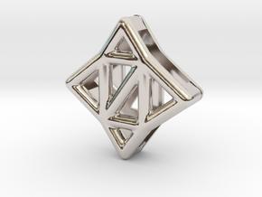 Starlit Pendant in Rhodium Plated Brass
