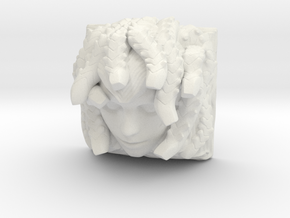 Medusa Keycap (Cherry MX DSA) in White Natural Versatile Plastic