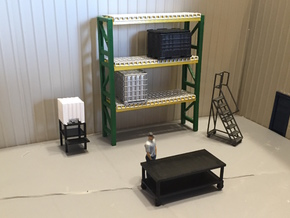Bulk Oil Tanks And Stand in Smooth Fine Detail Plastic