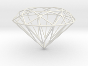Voronoi Diamond in White Natural Versatile Plastic