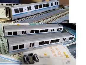 N Scale BART B Car Unpowered in Smooth Fine Detail Plastic
