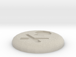 Death Rune in Natural Sandstone