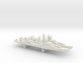 Suffren-Class Frigate x 2, 1/3000 in White Natural Versatile Plastic