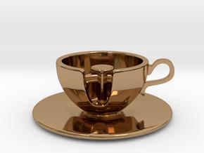 Cuppa Kooky Pendant in Polished Brass