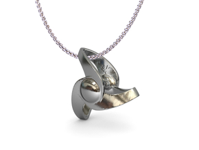 Volver pendant (cm 2) in Polished Silver