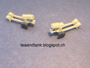 1/144 Nebelwerfer rocket launcher (set of three) in White Natural Versatile Plastic