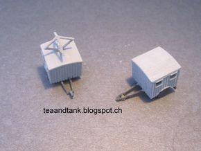 1/144 Luftwaffe radio trailer set in White Natural Versatile Plastic