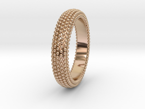 POMPEI Ring in 14k Rose Gold Plated