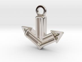 Anchor Charm: Tritium in Rhodium Plated Brass