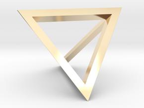 Tetrahedron Pendant in 14K Yellow Gold