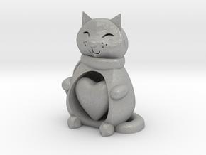 Cat with Heart in Aluminum