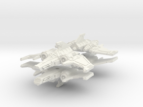 6mm Ziphon Interceptor (4pcs) in White Natural Versatile Plastic