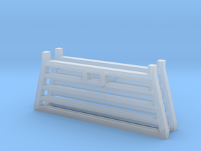 Pickup Truck Cab Guard 2Pack 1/87 HO Scale in Smooth Fine Detail Plastic