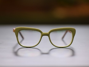 Optoid Hybrid MkXI: Custom Fit Rx Eyewear in Polished Metallic Plastic