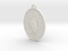 Hurricane Eye Earring in White Natural Versatile Plastic