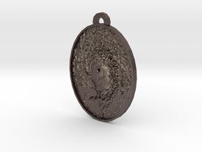 Hurricane Eye Earring in Polished Bronzed Silver Steel