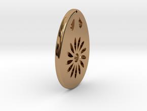 Earring Model G in Polished Brass