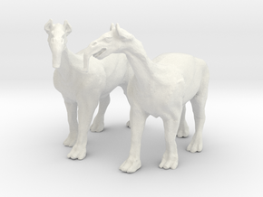 Macrauchenia -Fantasy beast of burden for wagons in White Natural Versatile Plastic