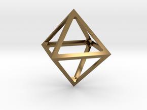 Octahedron Pendant in Polished Bronze